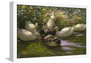Ducks under Birch Twigs by Alexander Koester
