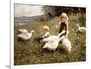 Feeding Geese, 1890 by Alexander Koester