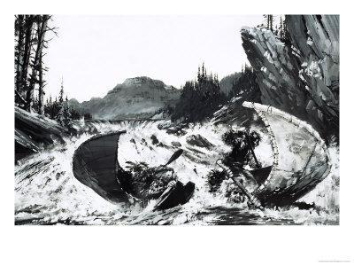 Alexander Mackenzie Begins His Quest to Find a Route Across Canada with a Hair-Raising River Ride-Graham Coton-Giclee Print