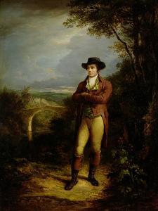 Robert Burns (1759-96), 1828 (Panel) by Alexander Nasmyth