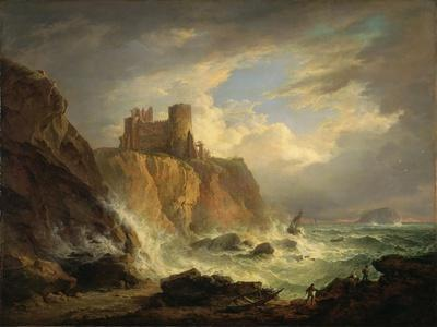 Tantallon Castle with the Bass Rock, C.1816