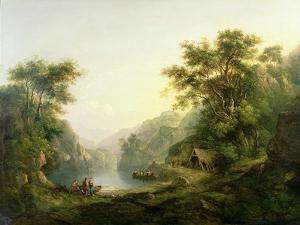 The Fishing Party, Loch Katrine, Scotland by Alexander Nasmyth