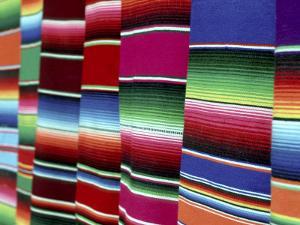 Colored Blankets For Sale, Oaxaca, Mexico by Alexander Nesbitt