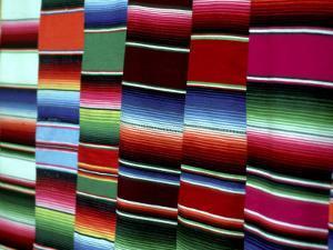 Traditional Blankets at Market, Mexico by Alexander Nesbitt