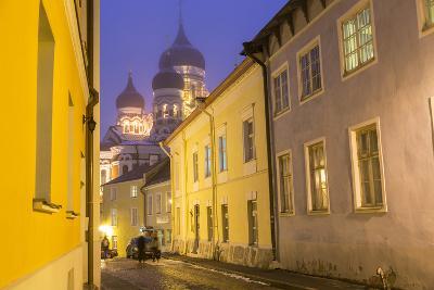Alexander Nevsky Church in the Old Town at Dusk, Tallinn, Estonia-Peter Adams-Photographic Print