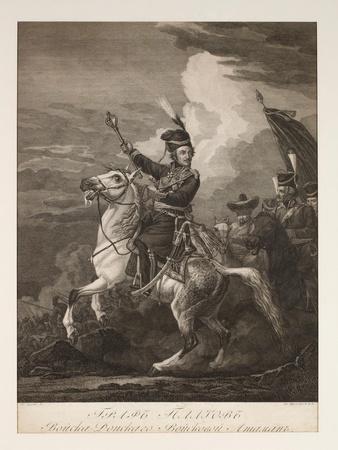Portrait of Count Platov (1751-1818) on Horseback