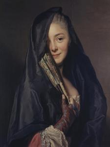 Dame Mit Schleier by Alexander Roslin