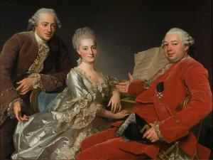 John Jennings, His Brother and Sister-In-Law, 1769 by Alexander Roslin