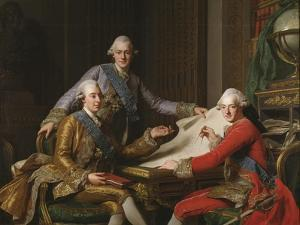 King Gustav III of Sweden and his Brothers, 1771 by Alexander Roslin