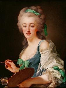 Portrait of Anne Vallayer-Coster, 1783 by Alexander Roslin