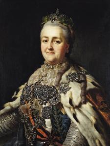 Portrait of Catherine II (1729-96) of Russia by Alexander Roslin