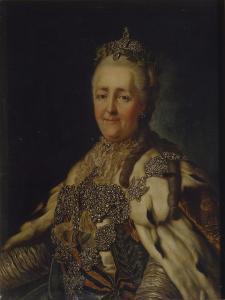 Portrait of Empress Catherine II (1729-179) by Alexander Roslin