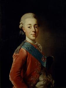 Portrait of Grand Duke Pavel Petrovich (1754-180), 1776 by Alexander Roslin