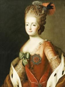 Portrait of Maria Fedorovna, Wife of Grand Duke Paul Petrovich (Future Tsar Paul I) by Alexander Roslin