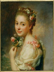 Portrait of the Artist's Wife, Marie Suzanne, 1763 by Alexander Roslin