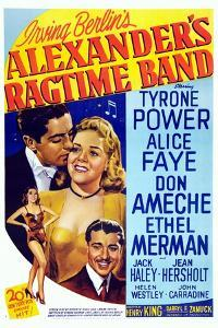 Alexander's Ragtime Band, from Left: Tyrone Power, Alice Faye, Don Ameche, 1938