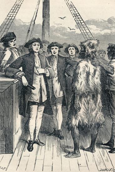 Alexander Selkirk Brought on Board, 1904--Giclee Print