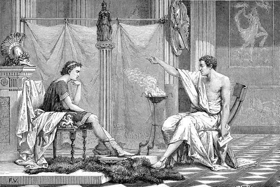 Alexander the Great (356-323 B) as a Youth, Listening to His Tutor Aristotle, C1875--Giclee Print