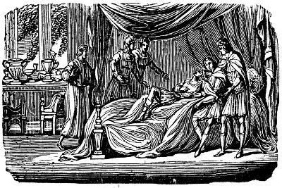 Alexander the Great (356-323 B) on His Deathbed, 1830--Giclee Print