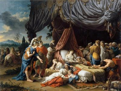 Alexander the Great and Hephaestion at the Deathbed of the Wife of Darius III-Louis-Jean-Fran?ois Lagren?e-Giclee Print