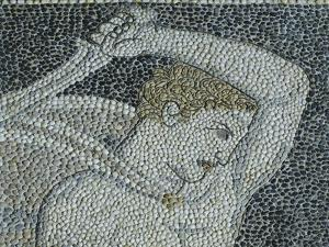 Alexander the Great and Hephaestion During Lion Hunt, Ca 320 Bc, Mosaic from Peristyle House 1