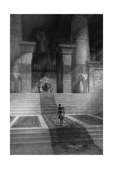 Alexander the Great at Memphis-C. Castaigne-Giclee Print