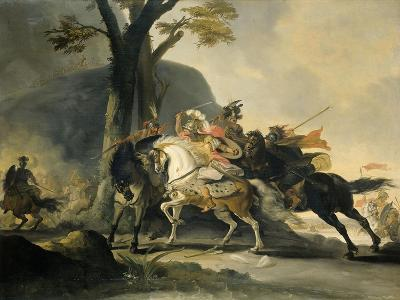 Alexander the Great at the Battle of the Granicus River in 334 BC against the Persians, 1737-Cornelis Troost-Giclee Print