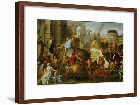 Alexander the Great Enters Babylon-Charles Le Brun-Framed Giclee Print