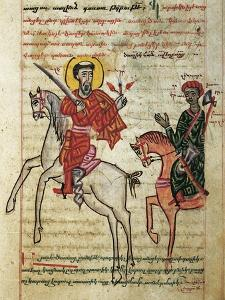 Alexander the Great Riding Bucephalus, Miniature from the History of Alexander the Great