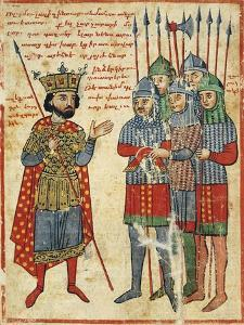 Alexander the Great Speaking to His Troops, Miniature from the History of Alexander the Great