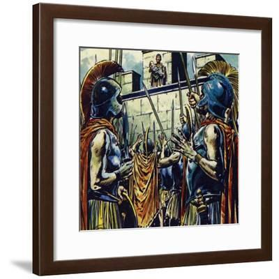 Alexander the Great Was the Son of Philip II of Macedonia-Jesus Blasco-Framed Giclee Print