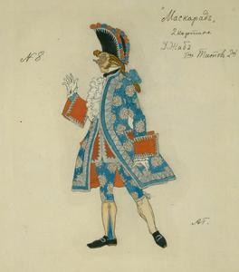 Costume Design for the Play the Masquerade by M. Lermontov, 1917 by Alexander Yakovlevich Golovin
