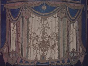 Design of Curtain for the Theatre Play the Masquerade by M. Lermontov, 1917 by Alexander Yakovlevich Golovin