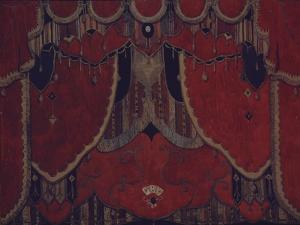 Design of Main Curtain for the Theatre Play the Masquerade by M. Lermontov, 1917 by Alexander Yakovlevich Golovin