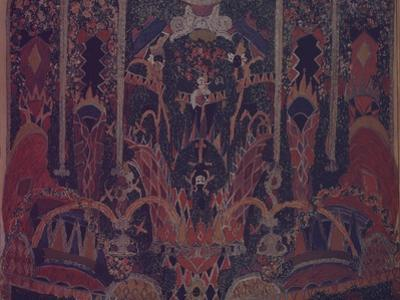 Design of Masquerade Curtain for the Theatre Play the Masquerade by M. Lermontov, 1917 by Alexander Yakovlevich Golovin