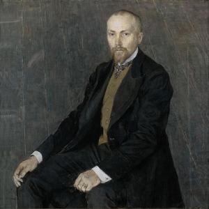 Portrait of the Artist Nicholas Roerich (1874-194), 1907 by Alexander Yakovlevich Golovin