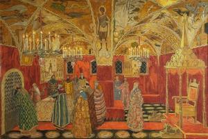 Stage Design for the Opera Boris Godunov by M. Musorgsky, 1911 by Alexander Yakovlevich Golovin