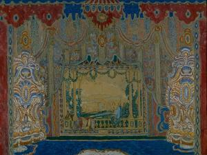 Stage Design for the Theatre Play Don Juan by Moliére, 1910 by Alexander Yakovlevich Golovin