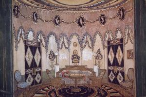 Stage Design for the Theatre Play Two Brothers by M. Lermontov, 1915 by Alexander Yakovlevich Golovin