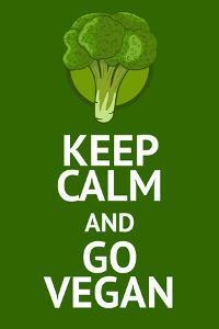 Vegan Poster with Popular Phrase by AlexanderZe