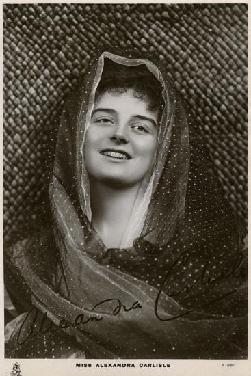 Alexandra Carlisle, British Actress, C1900s-C1910S- Tuck and Sons-Giclee Print