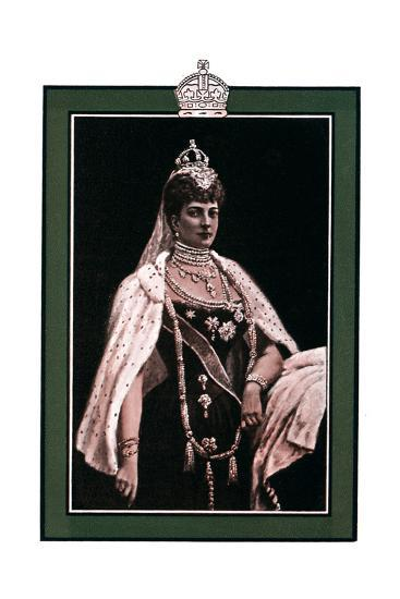 Alexandra of Denmark (1844-192), Queen Consort to King Edward VII, 1902-1903-W Waud-Giclee Print