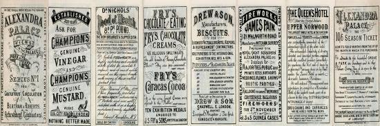Alexandra Palace - Advertisements on Back on Brochure--Giclee Print