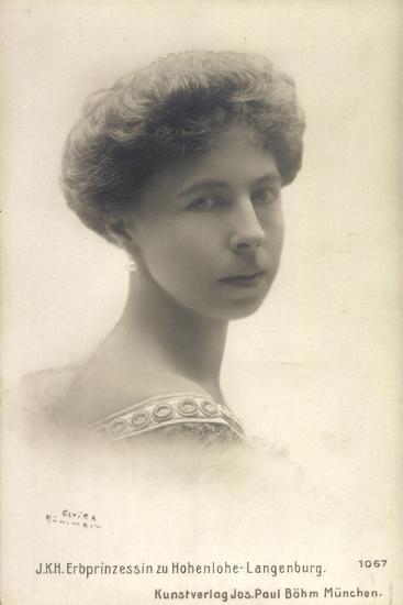 Alexandra Von Sachsen Coburg Und Gotha, Hohenlohe--Giclee Print