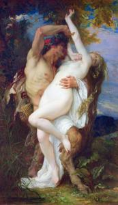 Nymph Abducted by a Faun, 1860 by Alexandre Cabanel