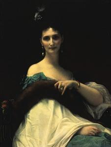 Portrait of Countess de Keller (Marquise de Saint Yves d'Alveydre), c.1873 by Alexandre Cabanel