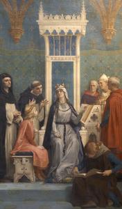 Saint Louis enseigné par sa mère by Alexandre Cabanel