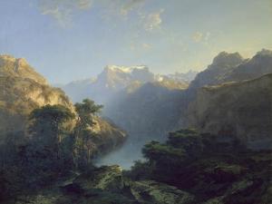 Der Urnersee, 1849 by Alexandre Calame