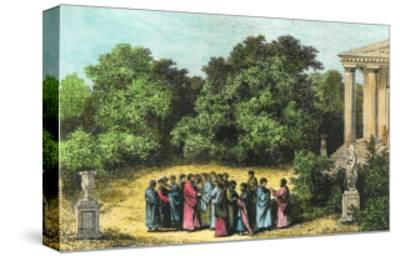 "Plato and His Disciples in the Garden of the Academy, from ""La Vie Des Savants Illustres"""
