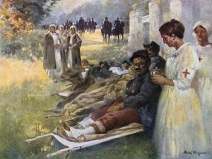 Le Premier Soin, 1914 by Alexandre De Riquer